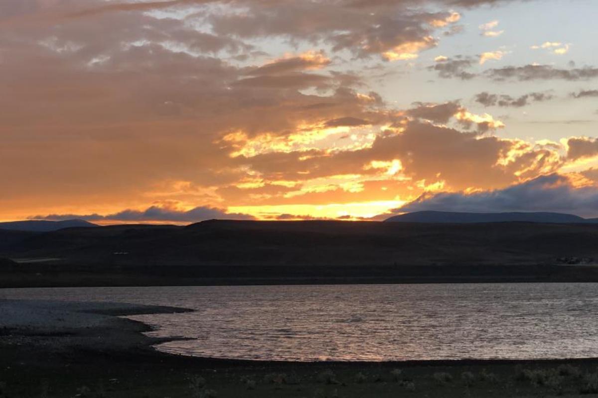 Kars'ta günbatımı görenleri hayran bıraktı