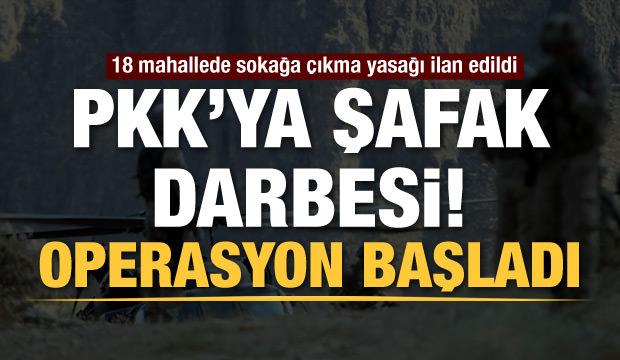 Mardin'de PKK operasyonu: 18 mahallede sokağa çıkma yasağı ilan edildi
