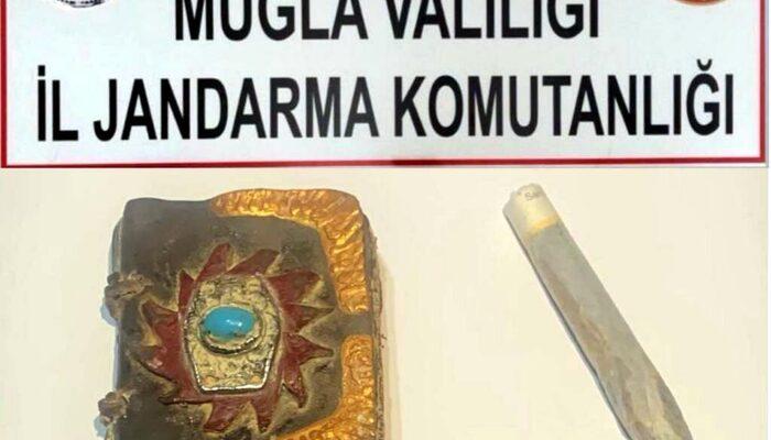 Muğla'da altın işlemeli bin yıllık Tevrat ele geçirildi