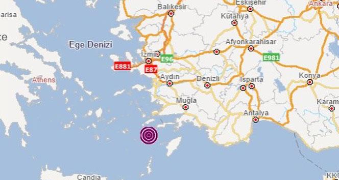Oniki Adalar'da 4.0 büyüklüğünde deprem