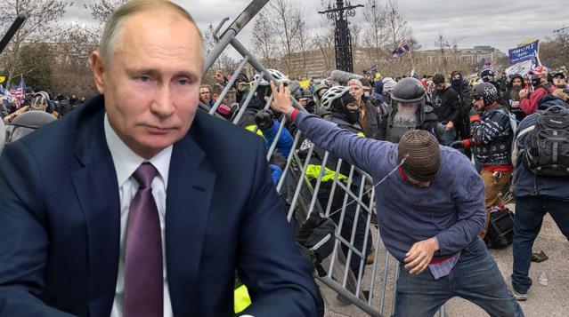 Ruslardan ABD'deki kaos için ilk yorum: Amerikan demokrasisi iki ayağının üzerinde topallıyor