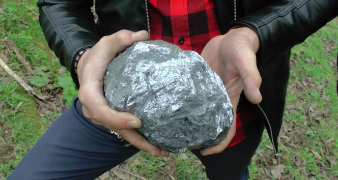 Sohbet ettikleri bahçeye gürültü ile düşen 9.5 kiloluk taş meteor sevinci yaşattı