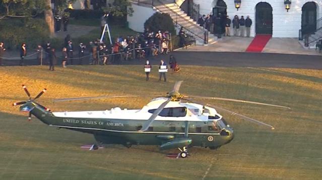 Son dakika! Donald Trump, başkanlığının bitmesine saatler kala Beyaz Saray'a veda etti