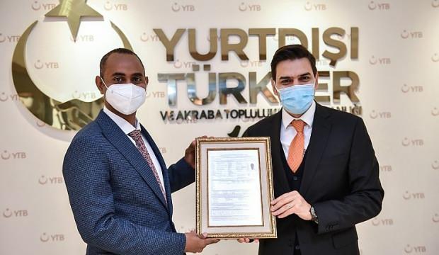 Türkiye Burslusu Bakan'dan YTB'ye Ziyaret