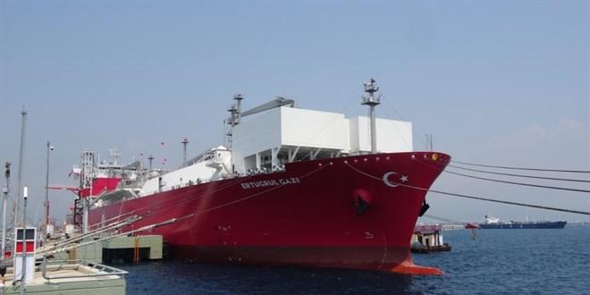 Türkiye'nin ilk doğal gaz depolama gemisi hizmete girdi