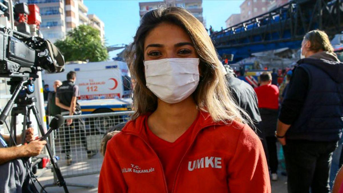 UMKE personeli Eda, enkaz altındaki İnci Okan'a davranışlarıyla gönüllere taht kurdu