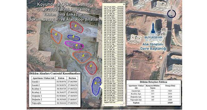 Yıkılan her bina için ayrı ayrı enkaz toplama alanı