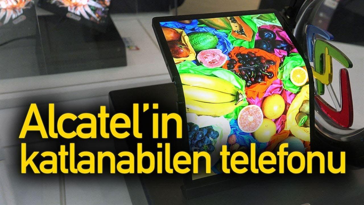 Katlanabilen telefon yarışına Alcatel de giriyor