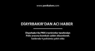 Diyarbakır Saldırı Anı 4 Şehit 2 Yaralı
